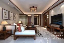 香苑西苑中式140平家装3室2厅