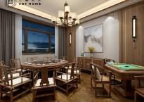 建湖茶室300m²中式